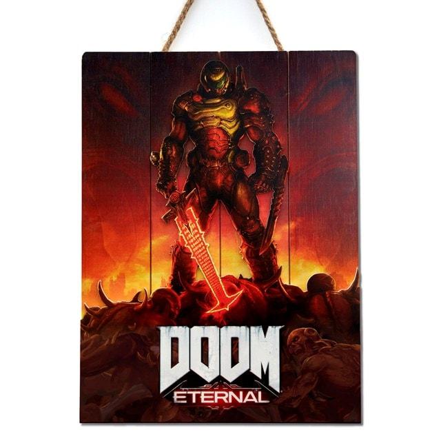 Doom Eternal Limited Edition 3D Wood Art - 1