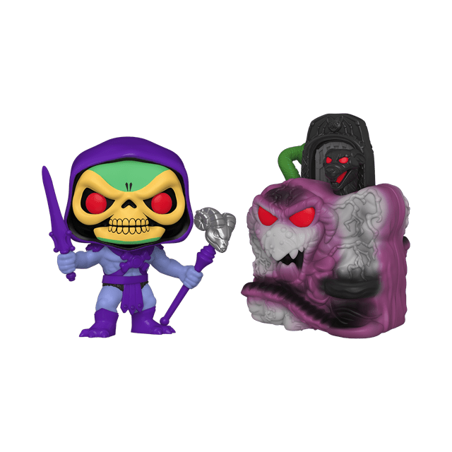 Snake Mountain With Skeletor (23): Masters Of The Universe Pop Vinyl: Town - 1