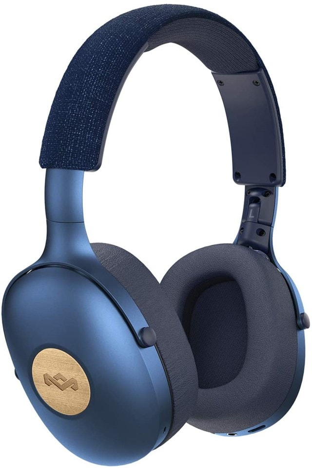 House Of Marley Positive Vibration XL Blue Bluetooth Headphones - 1