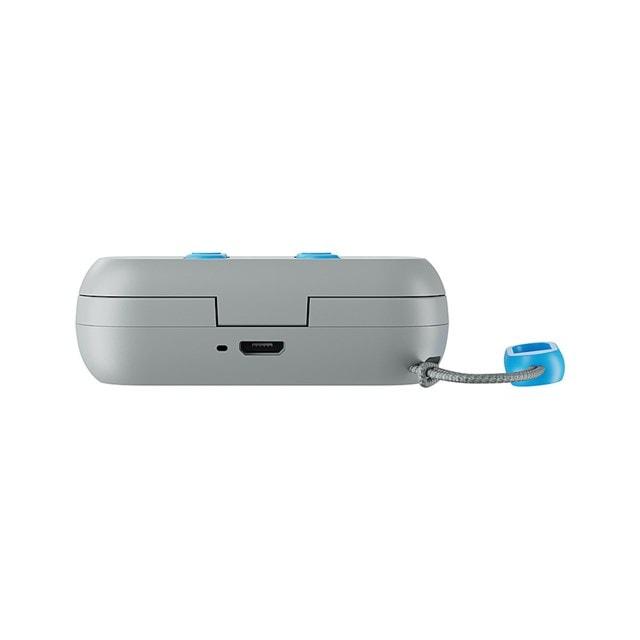 Skullcandy Dime Light Grey/Blue True Wireless Bluetooth Earphones - 9