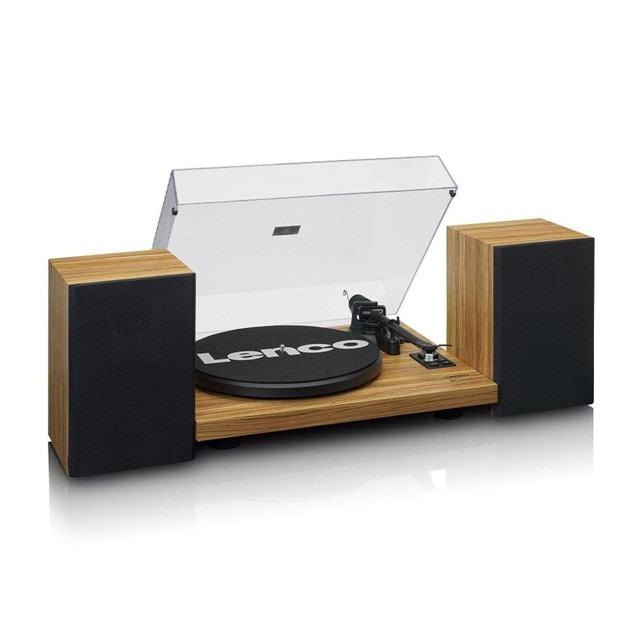 Lenco LS-500 Wood Turntable and Speakers - 1