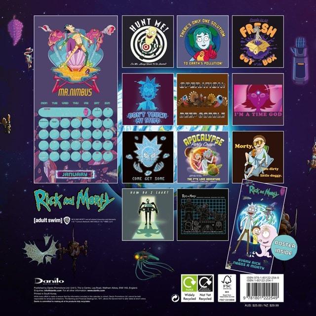 Rick & Morty Square 2022 Calendar - 2