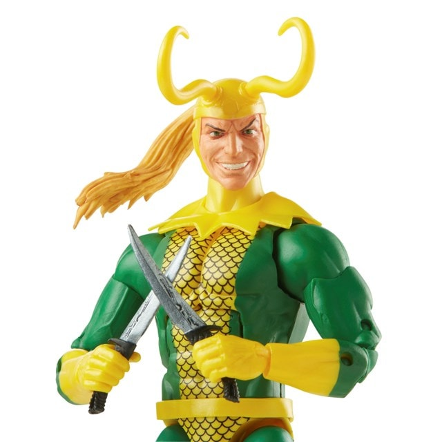 Loki: Retro Hasbro Marvel Legends Series Action Figure - 9