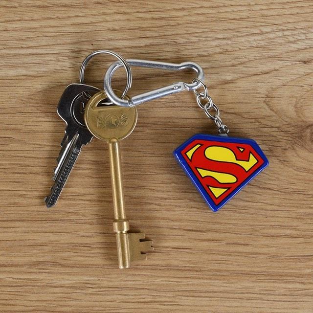 Superman Logo 3D Keychain - 1