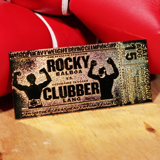 Rocky III Clubber Lang Fight Ticket: 24K Gold Plated Limited Edition Collectible - 4