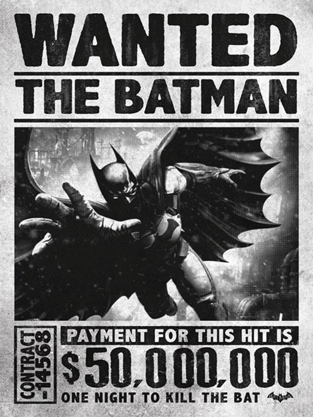 Batman Arkham Origins: Wanted! DC Canvas Print - 1