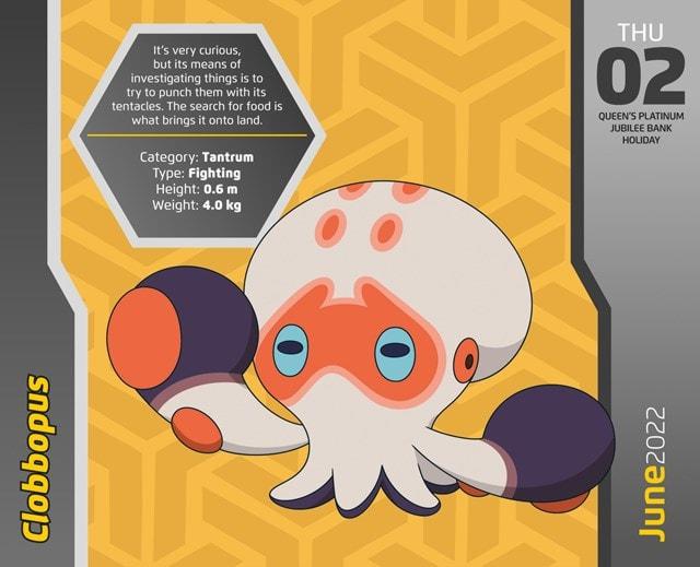 Pokemon Desk Block 2022 Calendar - 4