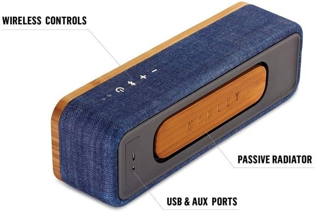 House Of Marley Get Together Mini Denim Bluetooth Speaker - 4