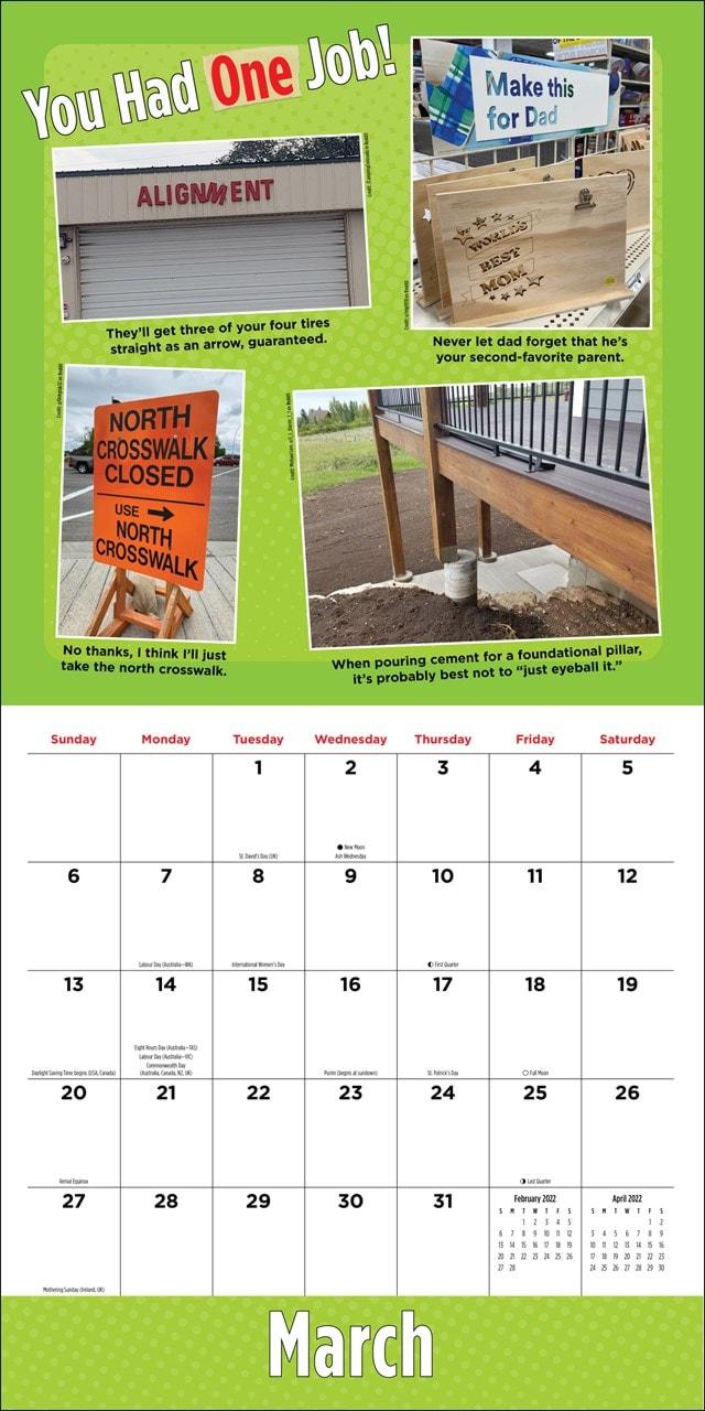 You Had One Job Square 2022 Calendar - 2