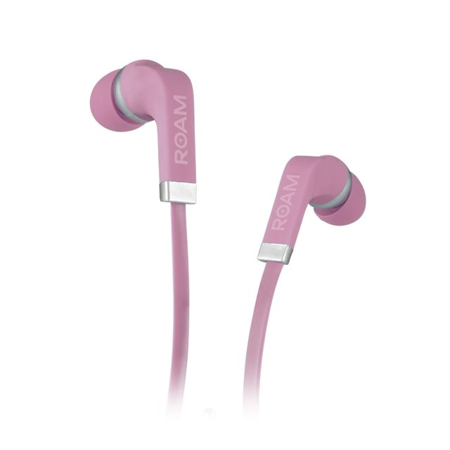 Roam Colours Dusty Pink Earphones w/Mic (hmv Exclusive) - 1