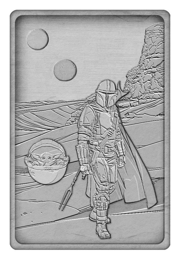 Mandalorian And Baby Yoda: Star Wars Metal Collectible - 2