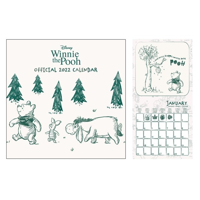 Winnie the Pooh: Square 2022 Calendar - 1
