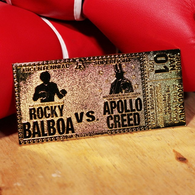 Rocky 45th Anniversary Fight Ticket: 24K Gold Plated Limited Edition Collectible - 4