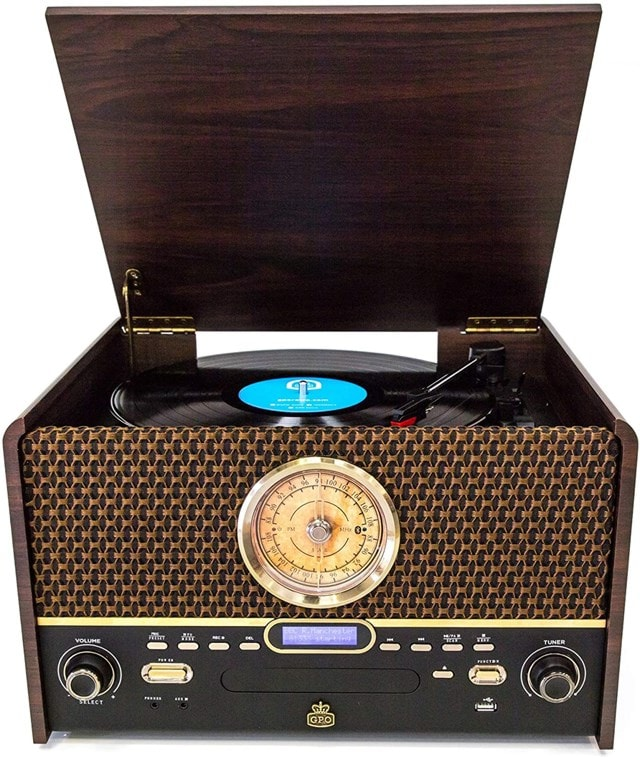 GPO Chesterton DAB Wood 5-In-1 USB Turntable w/ DAB Radio, CD & Cassette Player - 2