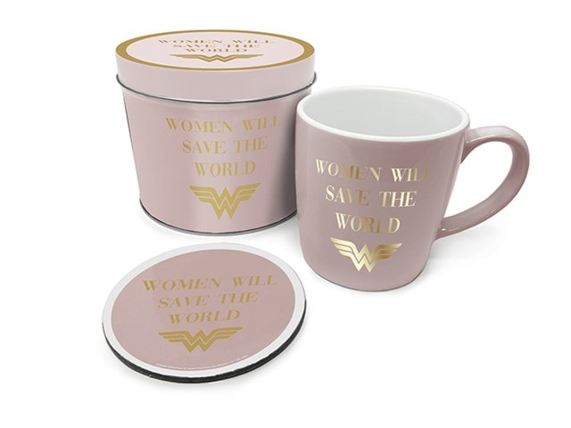 Wonder Woman: Women Will Save The World Mug Gift Set in Tin - 1