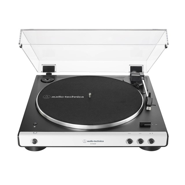 Audio Technica AT-LP60XBT White Bluetooth Turntable - 1