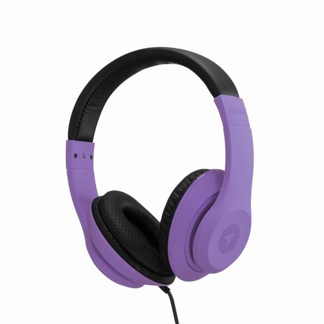 Roam Colours Grape Purple Headphones w/Mic (hmv Exclusive) - 1