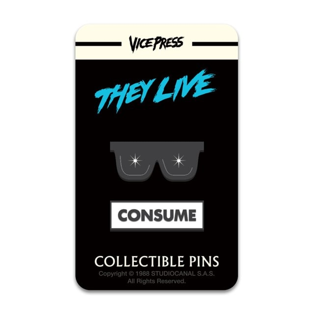 They Live: Consume Glasses Pin Badge - 1