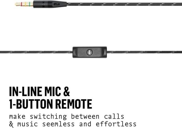 House Of Marley Uplift 2.0 Signature Black Earphones W/Mic - 3