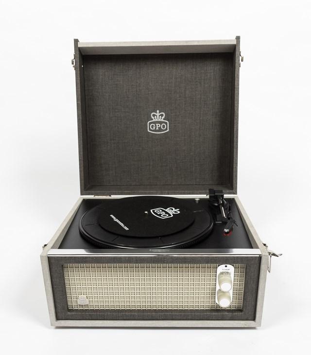 GPO Bermuda Grey Turntable - MP3 USB & Built-In Speaker - 5