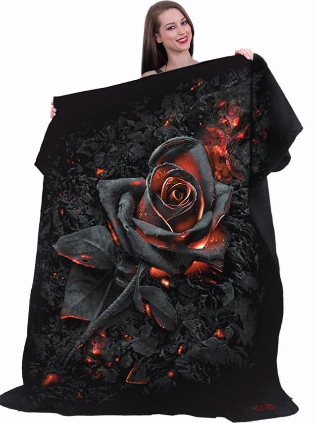 Burnt Rose Fleece Blanket - 1