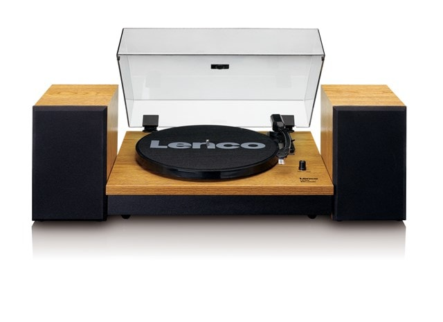Lenco LS-300 Wood turntable and Speakers - 1