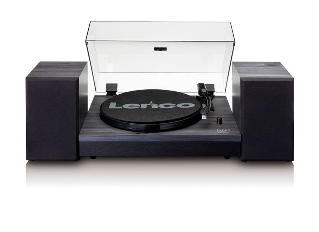 Lenco LS-300 Black Turntable and Speakers - 1