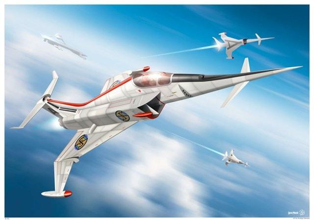 Captain Scarlet: In Action Angel Interceptor Art Print - 1
