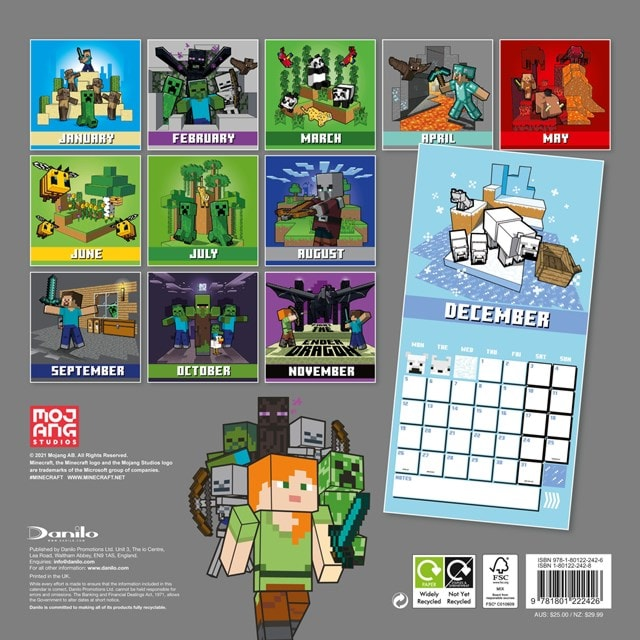 Minecraft Square 2022 Calendar - 2