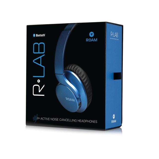 Roam R-Lab Metallic Blue Bluetooth Active Noise Cancelling Headphones - 4
