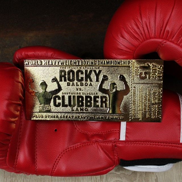 Rocky III Clubber Lang Fight Ticket: 24K Gold Plated Limited Edition Collectible - 3