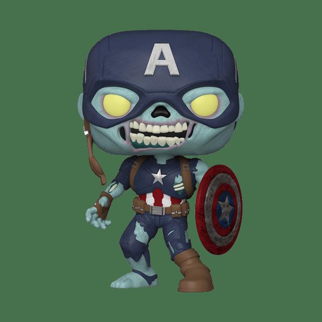 10'' Zombie Captain America (949) What If hmv Exclusive Pop Vinyl - 1