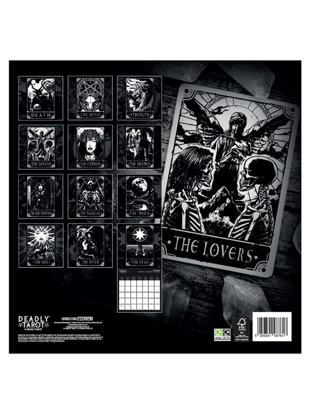 Deadly Tarot: Square 2022 Calendar - 3