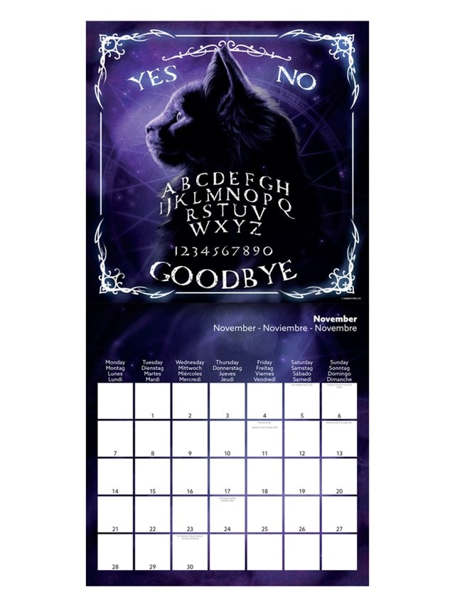 Witch Vibes: Square 2022 Calendar - 3