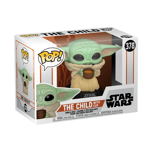 The Mandalorian: The Child With Cup - Baby Yoda (378) Star Wars Pop Vinyl - 2