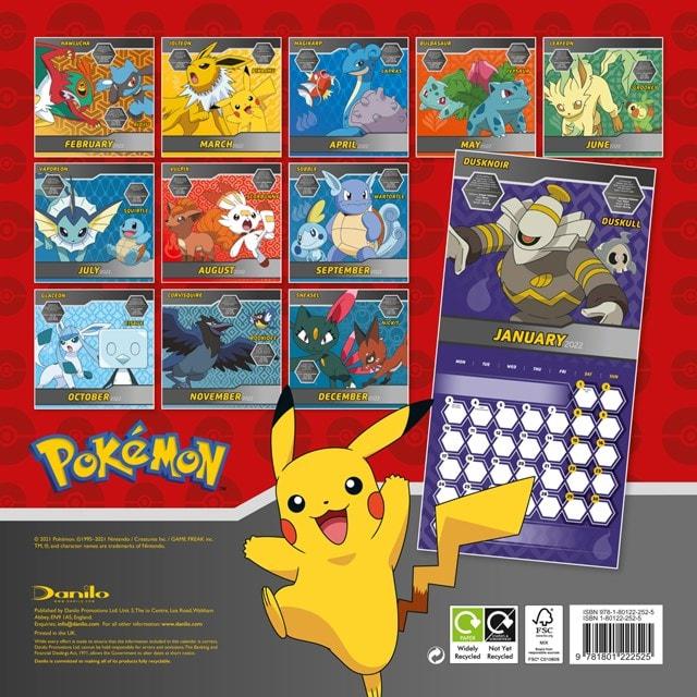 Pokemon Square 2022 Calendar - 2