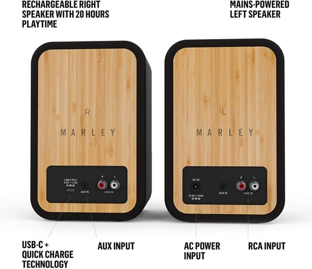 House Of Marley Get Together Duo Bluetooth Bookshelf Speakers - 3