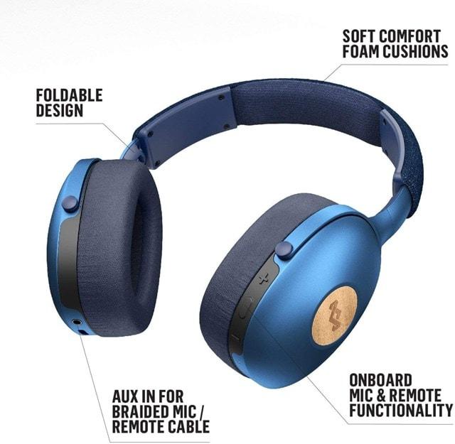 House Of Marley Positive Vibration XL Blue Bluetooth Headphones - 4