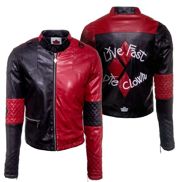 Harley Quinn Suicide Squad Faux Leather Jacket: Women's (Small) - 1