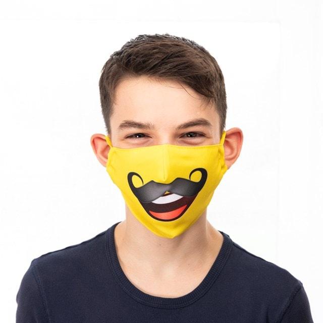 Moustache Emoji Face Covering - 1