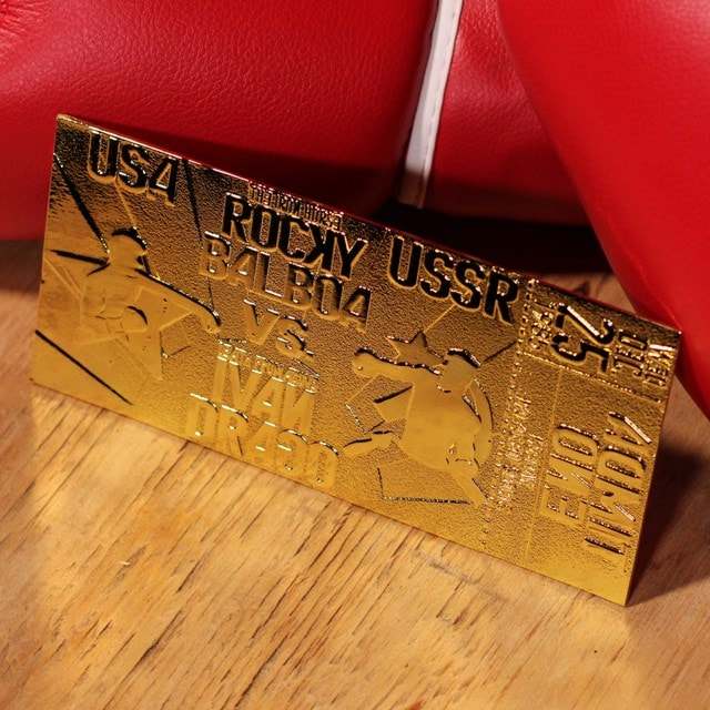 Rocky IV Ivan Drago Fight Ticket: 24K Gold Plated Limited Edition Collectible - 4