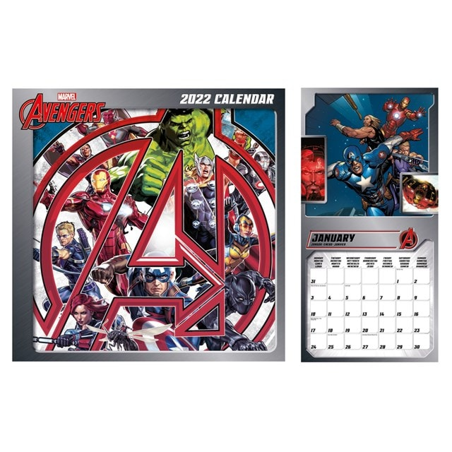 Avengers: Marvel Square 2022 Calendar - 1