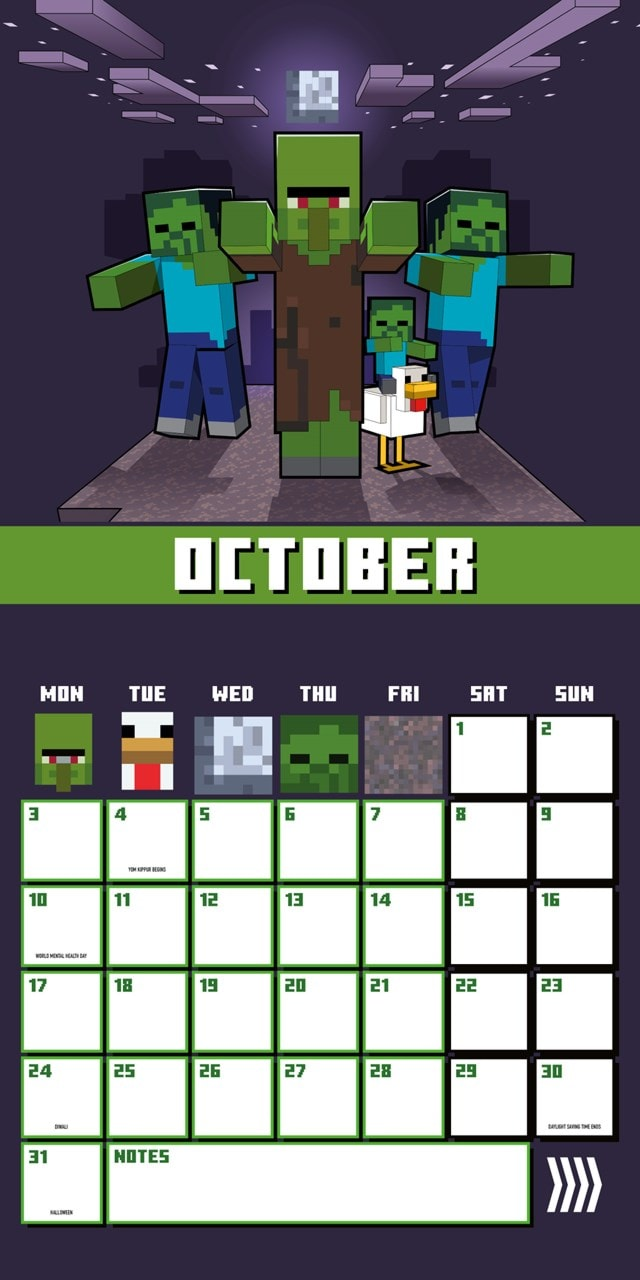 Minecraft Square 2022 Calendar - 3