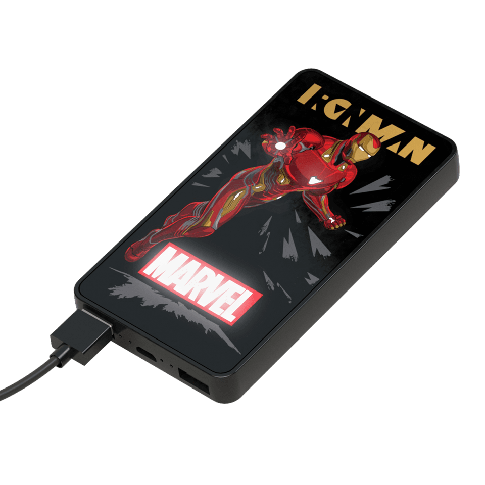 Tribe Marvel Iron Man 6000mAh Light Up Power Bank - 1