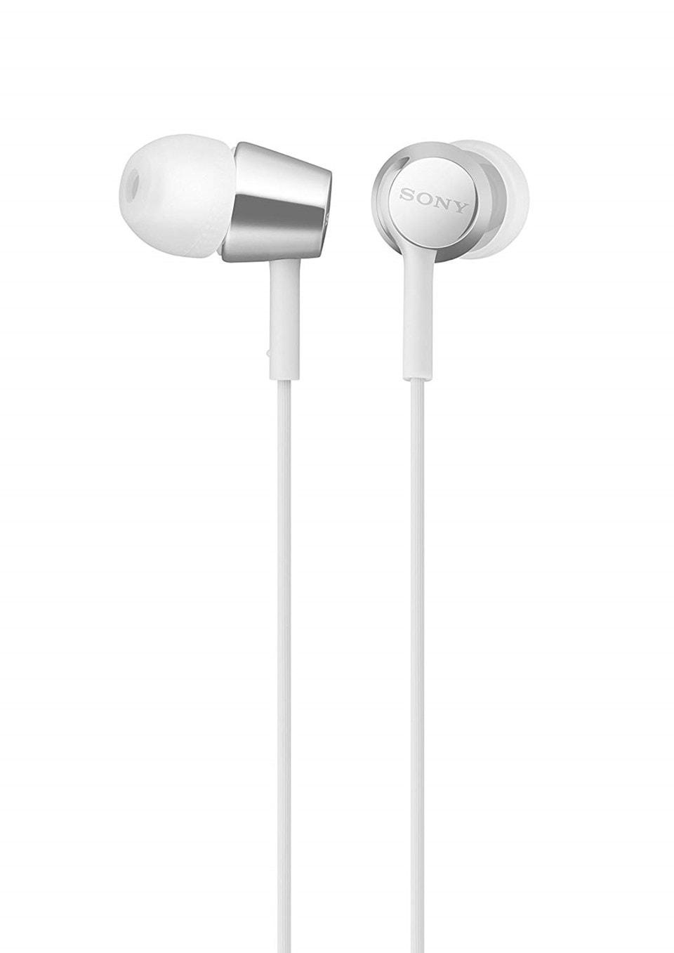 Sony MDREX155AP White Earphones w/Mic - 1