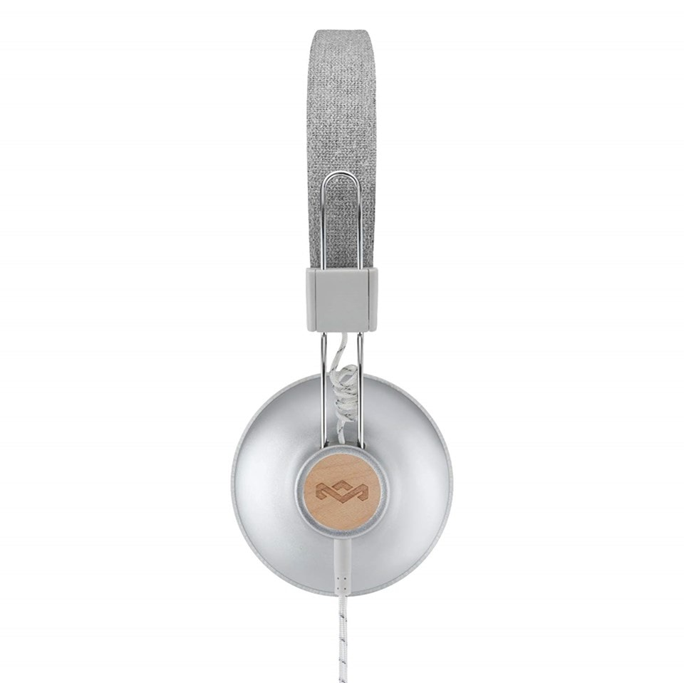 House Of Marley Positive Vibration 2.0 Silver Headphones w/Mic - 2