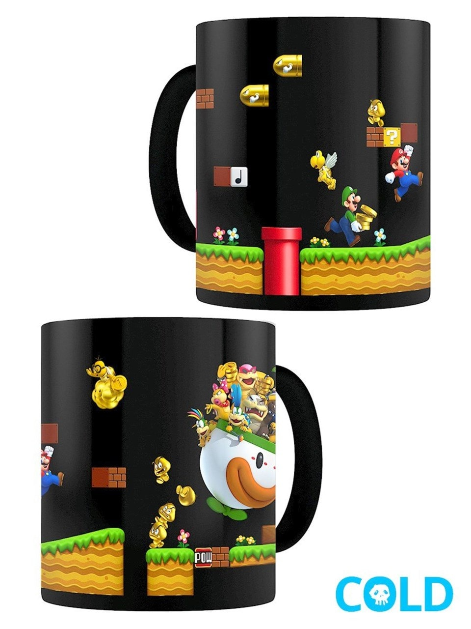 Super Mario Gold Coin Rush Heat Change Mug - 1