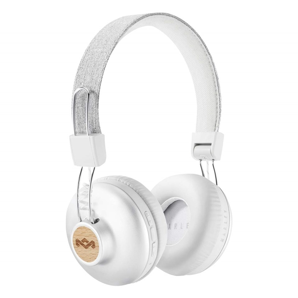 House Of Marley Positive Vibration 2 BT Silver Bluetooth Headphones - 1