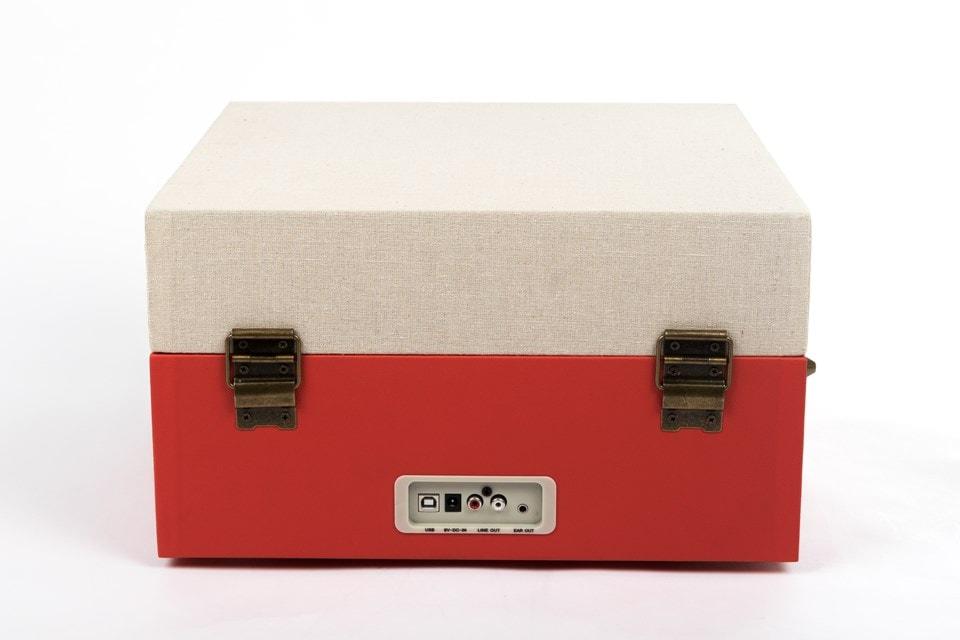 GPO Bermuda Red Turntable - MP3 USB & Built-In Speaker - 3