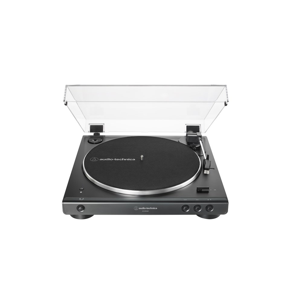 Audio Technica At-LP60XBT Black Bluetooth Turntable - 1